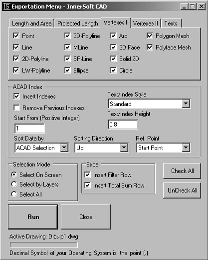InnerSoft CAD is a add-on for AutoCAD working with Graphical Menus